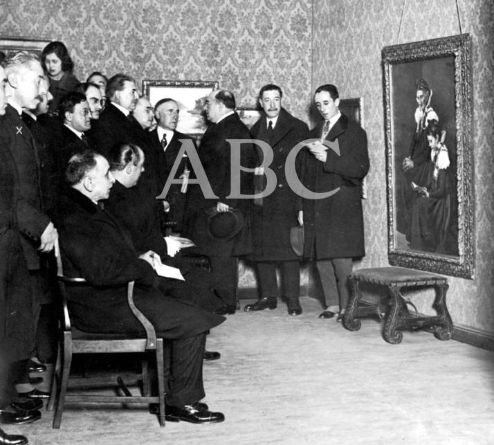 2 Manuel Villegas Brieva. EN EL SALON DEL CÍRCULO DE BELLAS ARTES. INUGURACION DE LA EXPOSICIÓN DE CUADROS DEL PINTOR VILLEGAS BRIEVA 1923